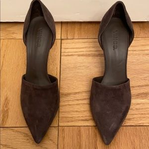Brown high heeled shoes
